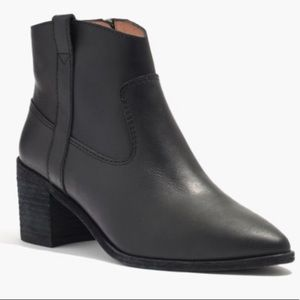 MADEWELL LONNIE BLACK LEATHER BOOTS SIZE 11